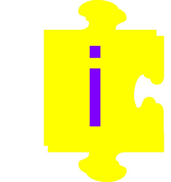 E clipart yellow letter. Inside puzzle piece clip