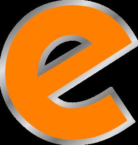 Letter clip art at. E clipart