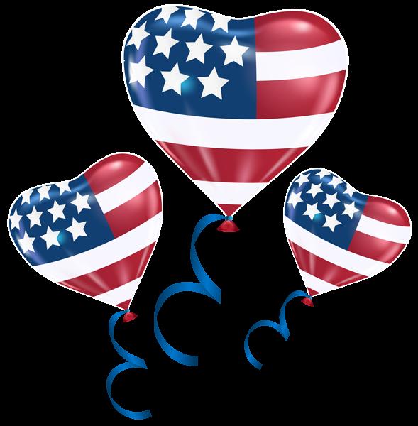 Usa balloons png clip. Patriotic clipart patriotic heart