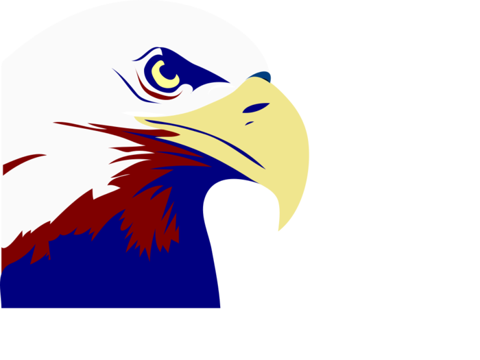 Eagle clipart abstract. Red white and blue