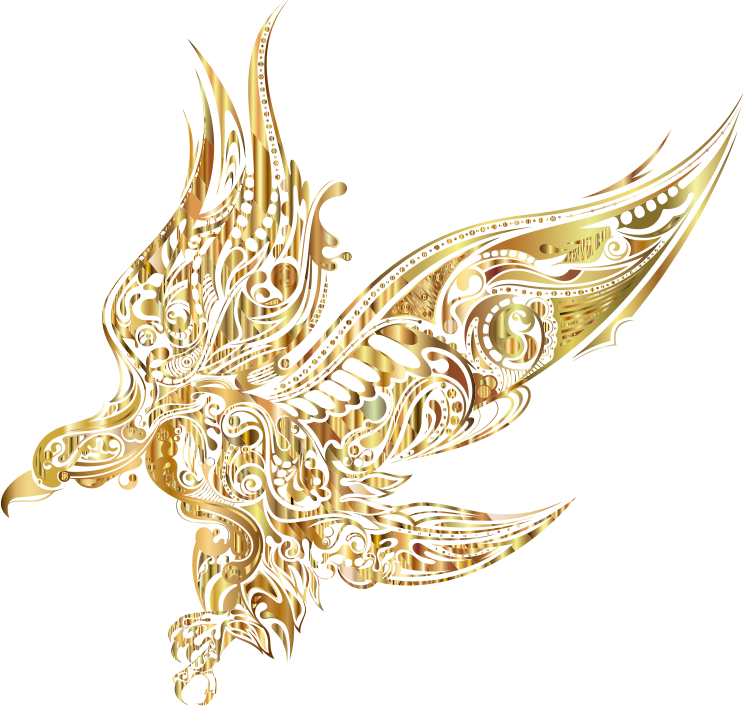 Eagle clipart abstract. Gold medium image png