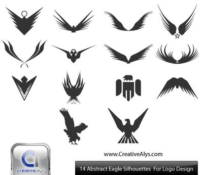 Free silhouette eagles wings. Eagle clipart abstract