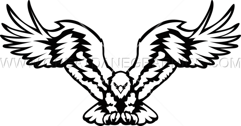 With open wings production. Wing clipart eagle