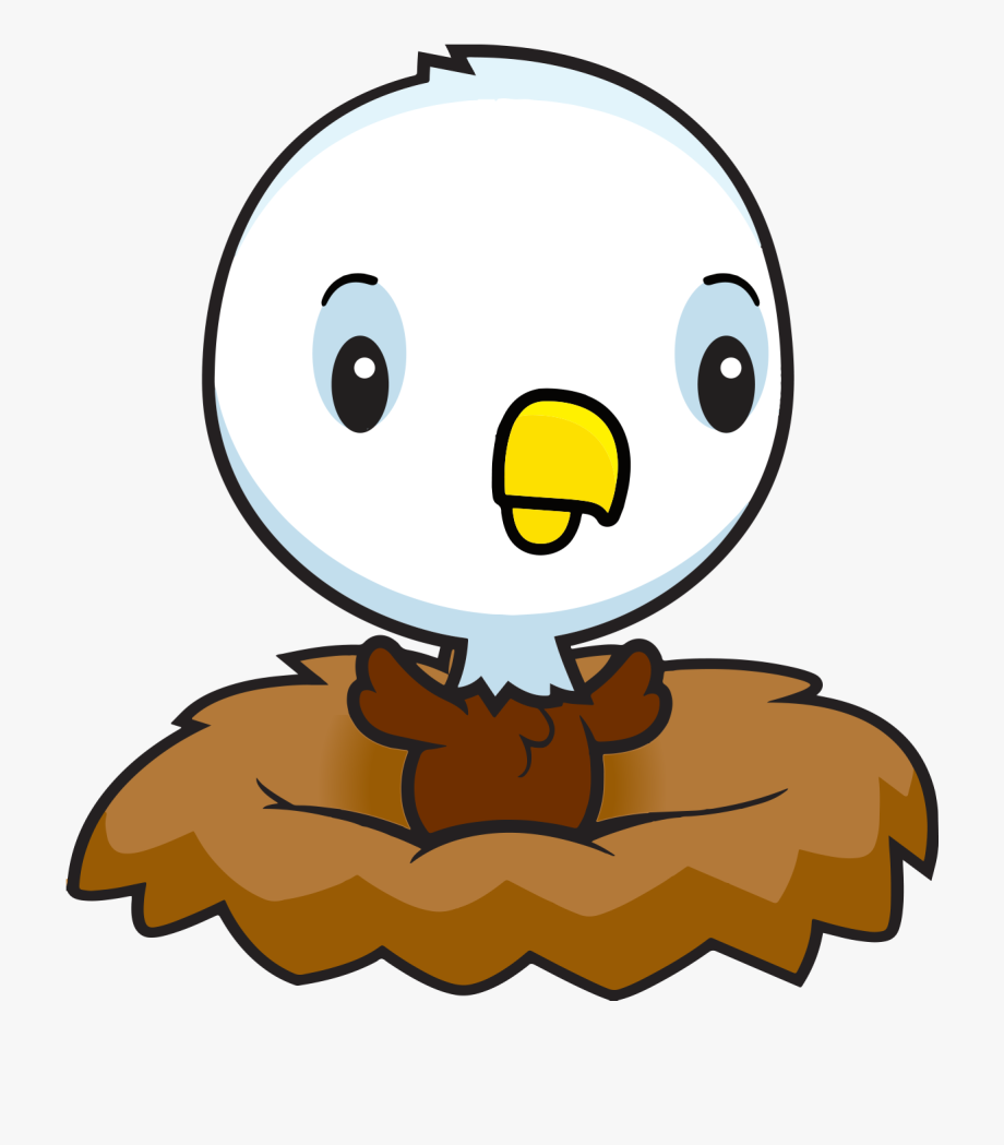In nest free . Eagle clipart baby eagle