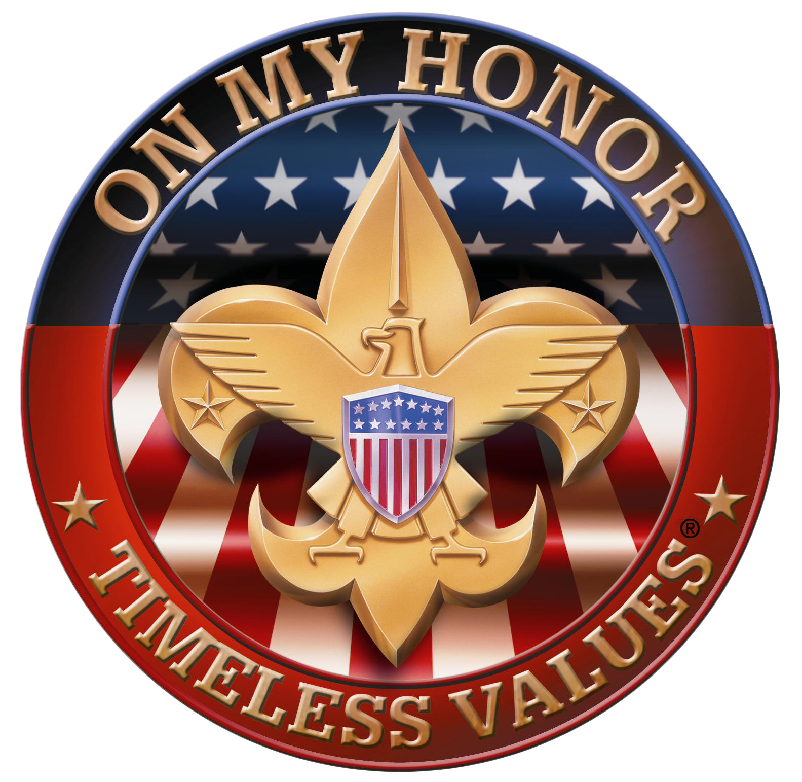 On my honor . Eagle clipart badge