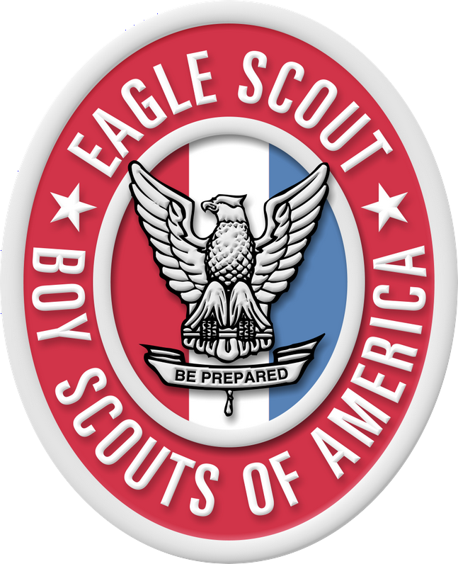 Large scout and medal. Eagle clipart badge