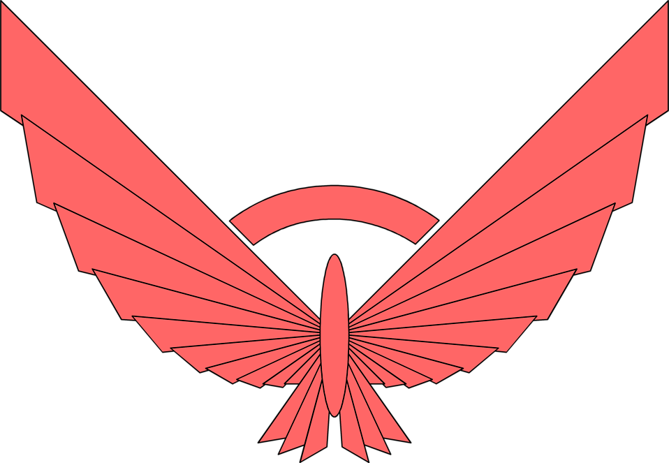 Wing clipart banner. Free stock photo illustration