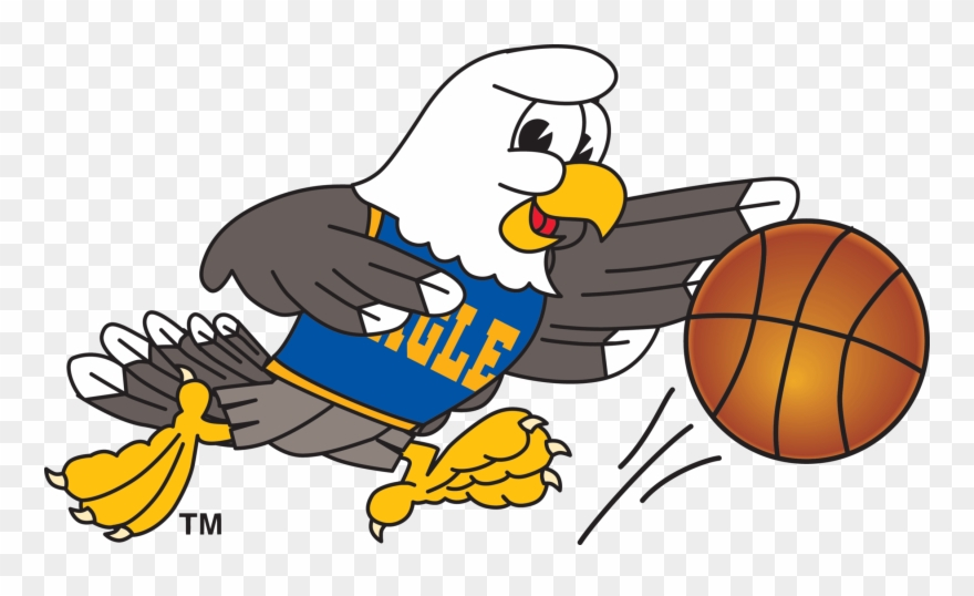 Playing bald with . Eagle clipart basketball