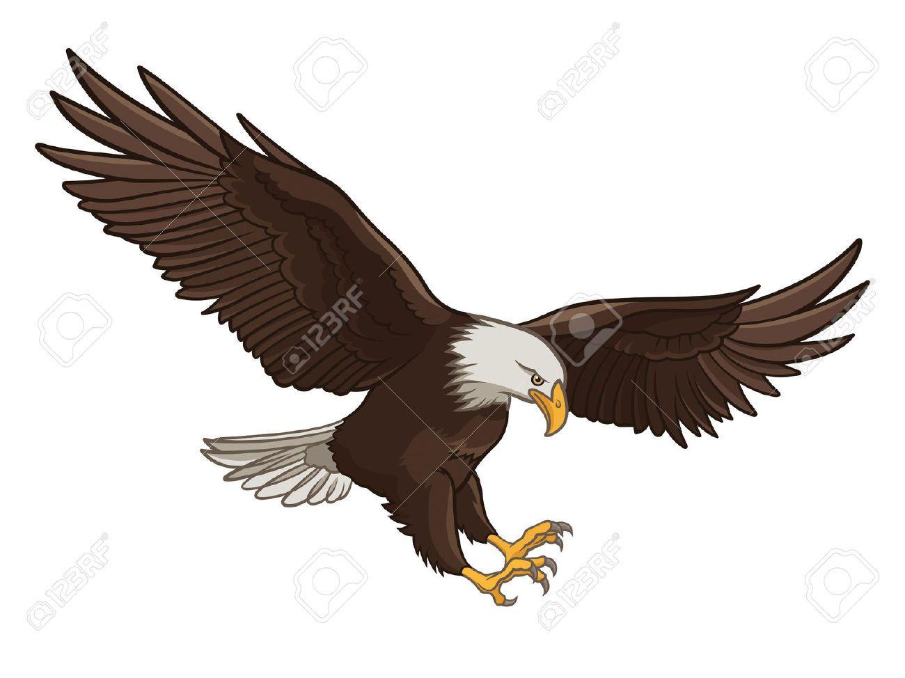 Vector illustration of a. Eagle clipart eagle flying