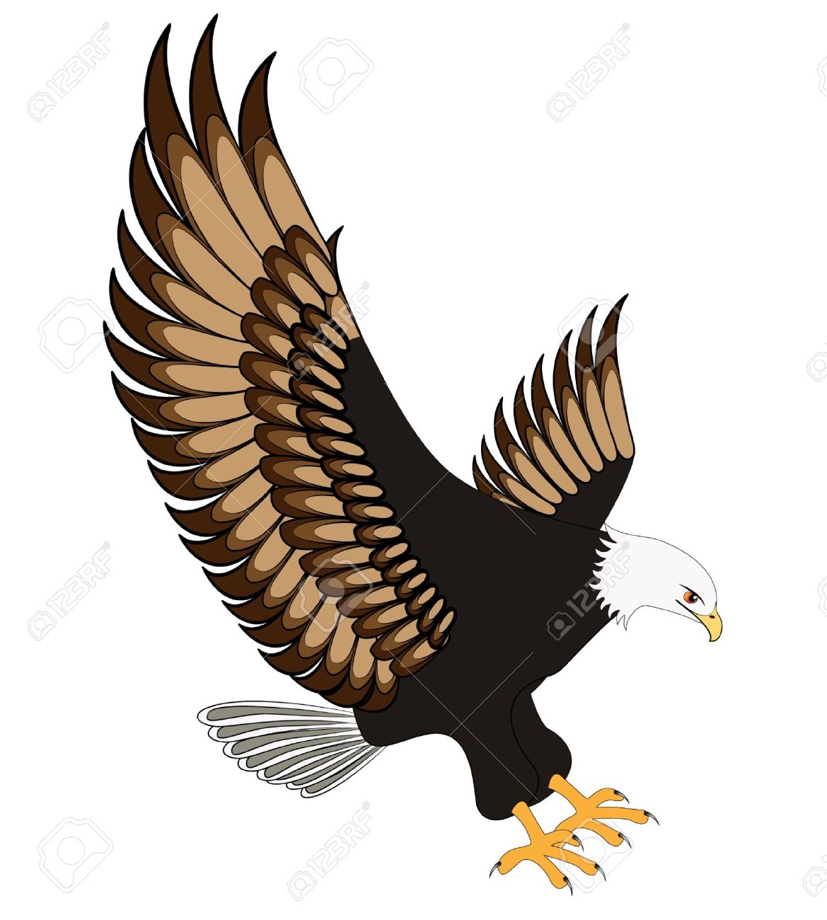 Eagle clipart eagle flying.  clipartlook