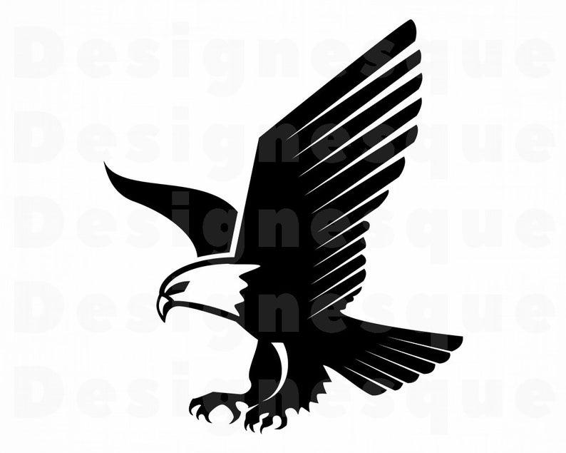 Svg bald files for. Eagle clipart file