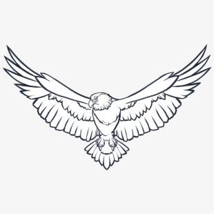 Eagle clipart file. Transparent background