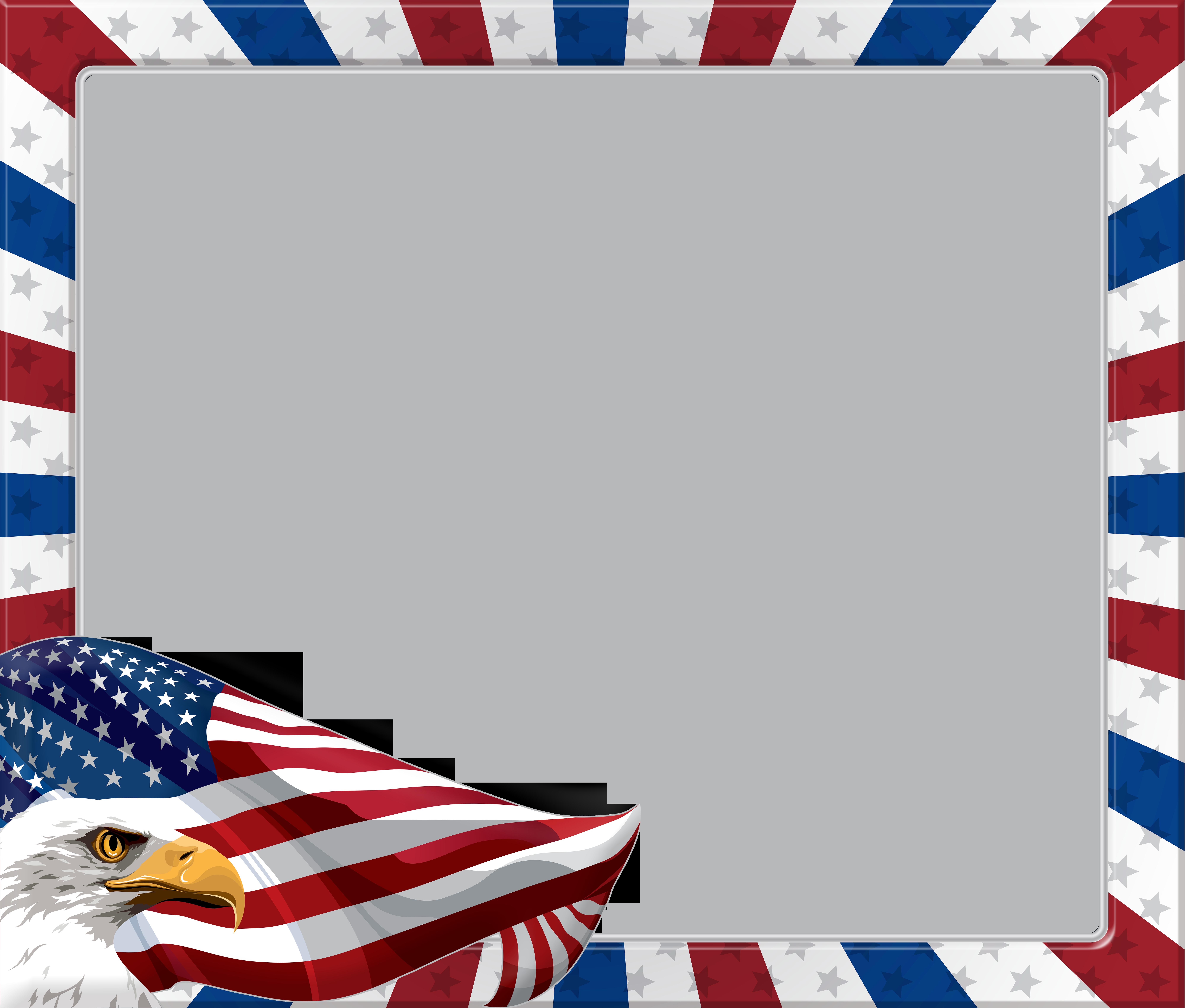 Eagle clipart frame. Usa american transparent png