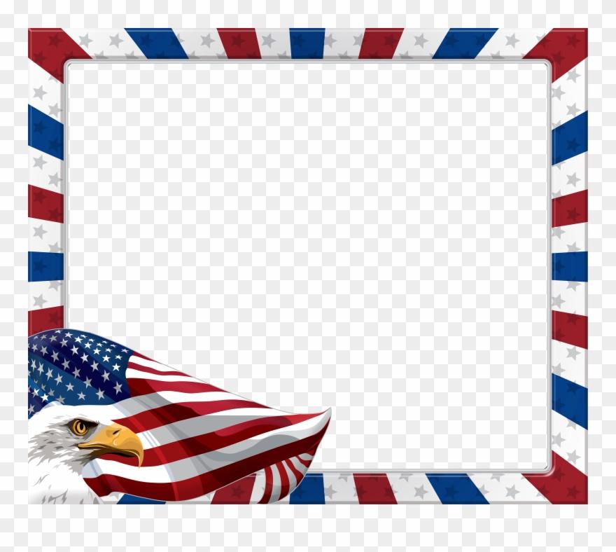 Usa american transparent png. Eagle clipart frame