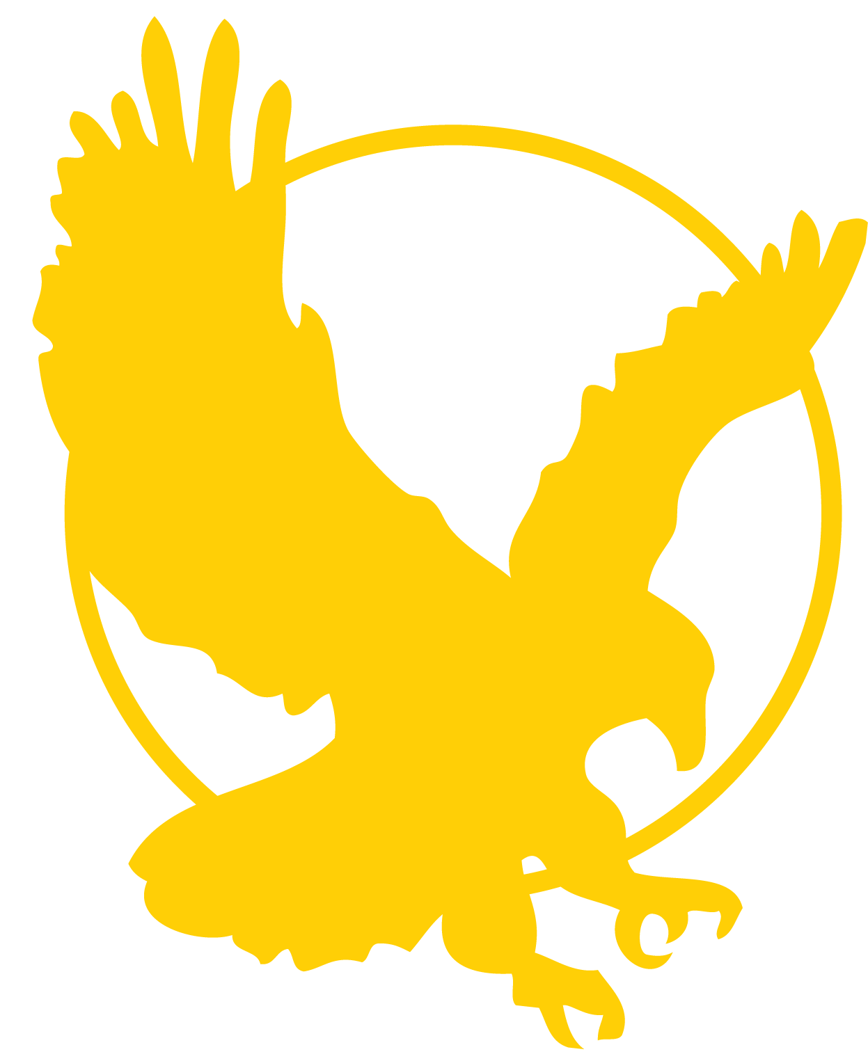 black and gold. Eagle clipart icon