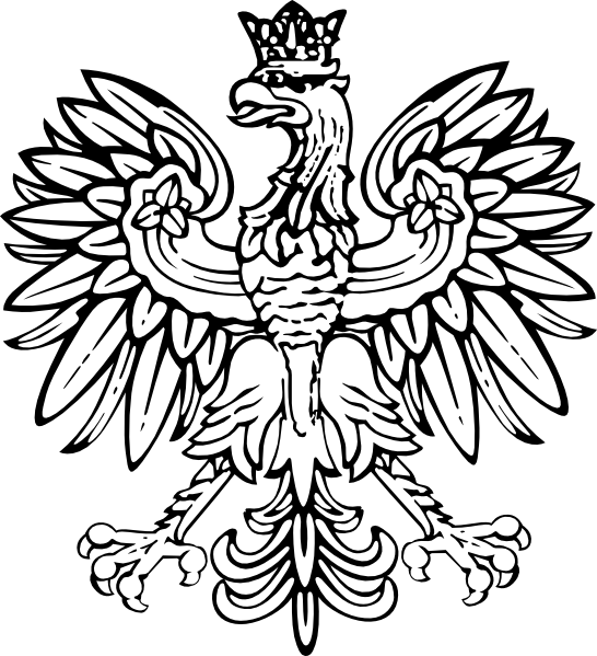 Poland designs polish clip. Eagle clipart illustration