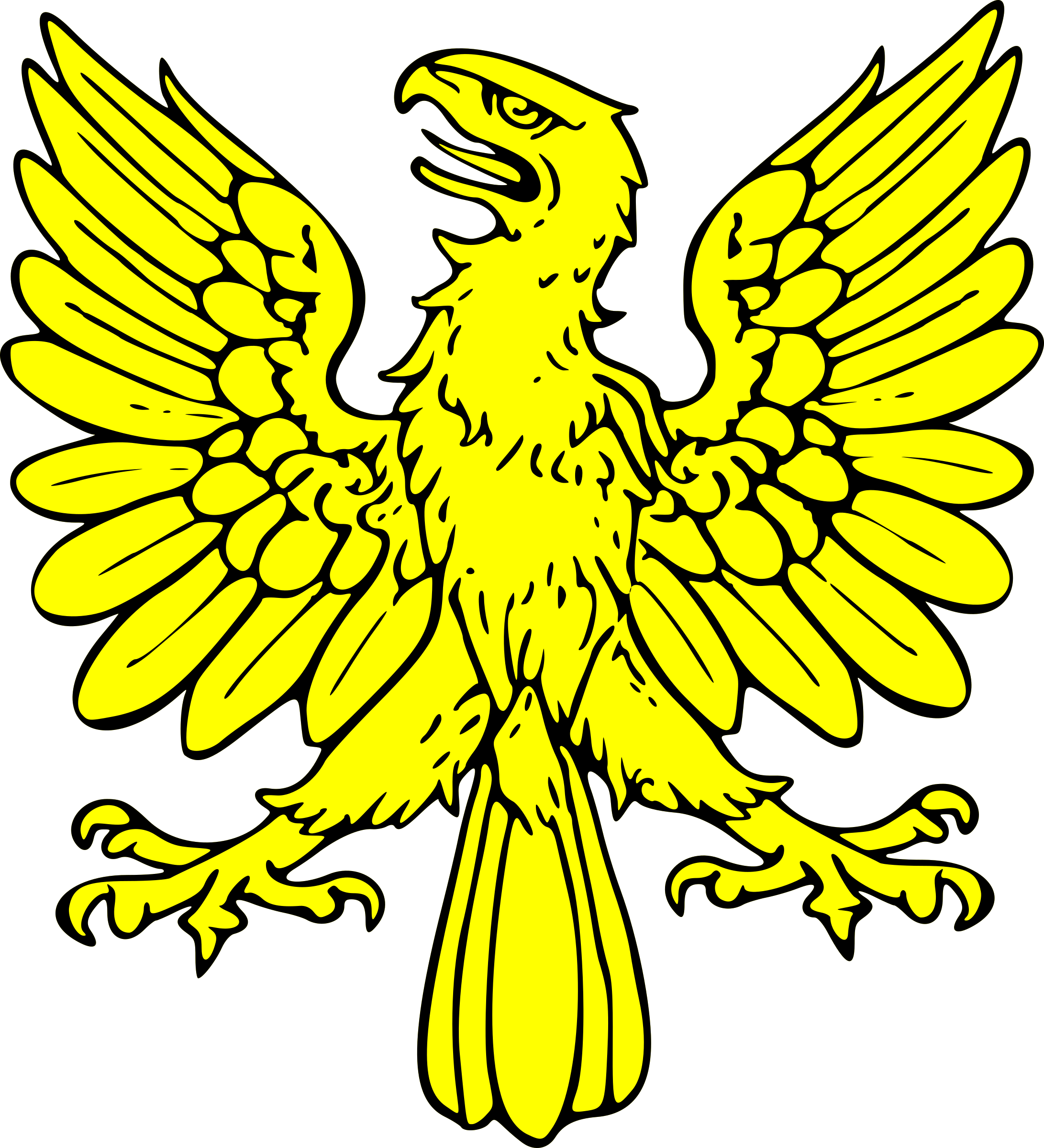 Eagle clipart illustration. Displayed