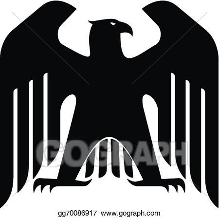 Eagle clipart majestic. Vector illustration black eps