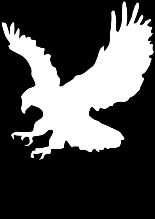 Eagle clipart outline. Animal free black white