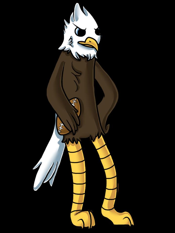 Free cartoon bald download. Eagle clipart outline