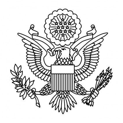 Eagle clipart passport. Basic outline americana card