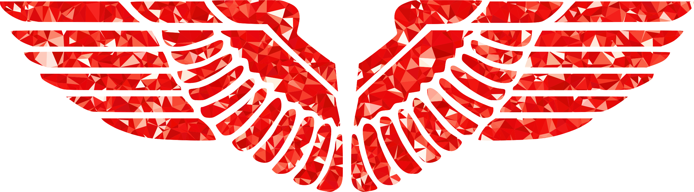 Ruby wings big image. Eagle clipart red