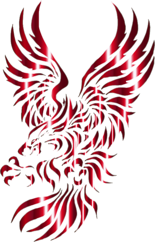 Eagle clipart red. Chromatic tribal no background