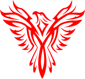 Eagle clipart red. And white clip art
