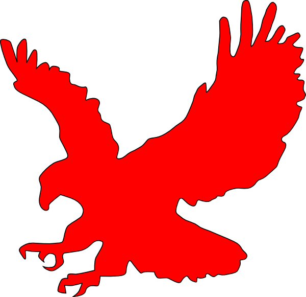 Clip art at clker. Eagle clipart red