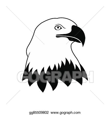 Bald icon stock illustration. Eagle clipart simple