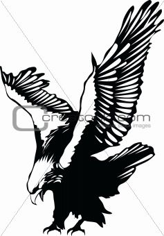 Eagles clipart stencil. Flying eagle silhouette free