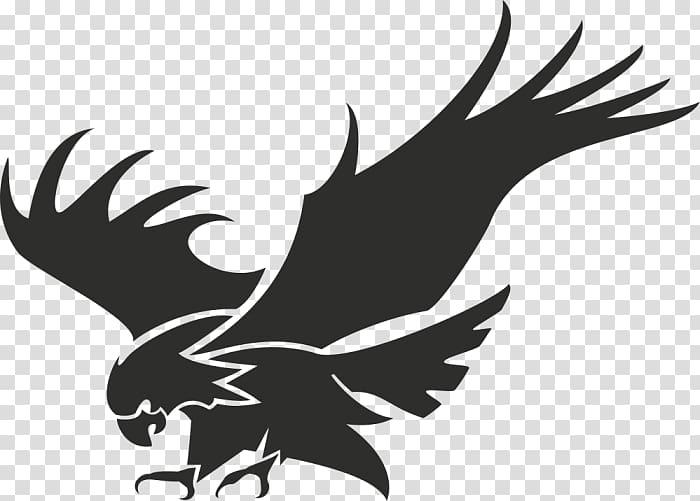Logo silhouette transparent background. Eagle clipart stencil