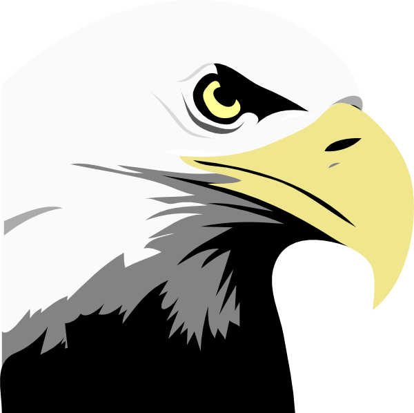 Clip art at clker. Eagle clipart stencil