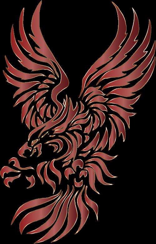 Eagle clipart stencil. Chromatic tribal no background