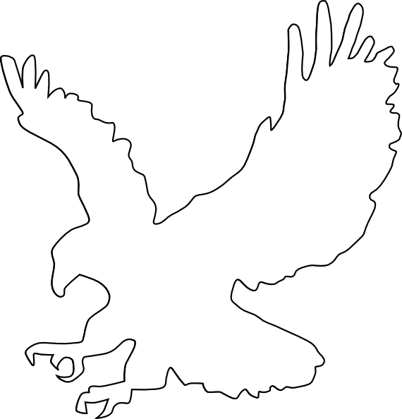 Eagle clipart vector. Outline clip art at