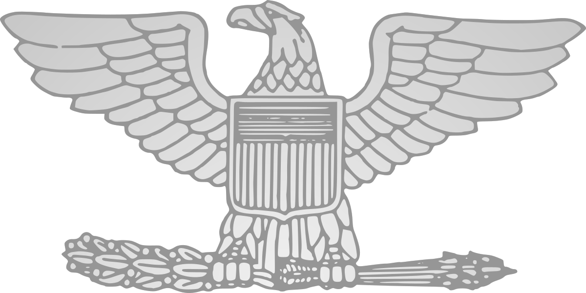 Soldiers clipart colonel. United states wikipedia