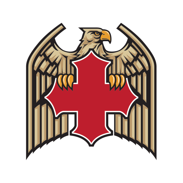 Printed vinyl german eagle. Factory clipart military building