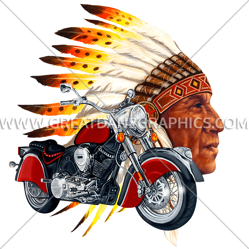 Chief production ready artwork. Wing clipart biker