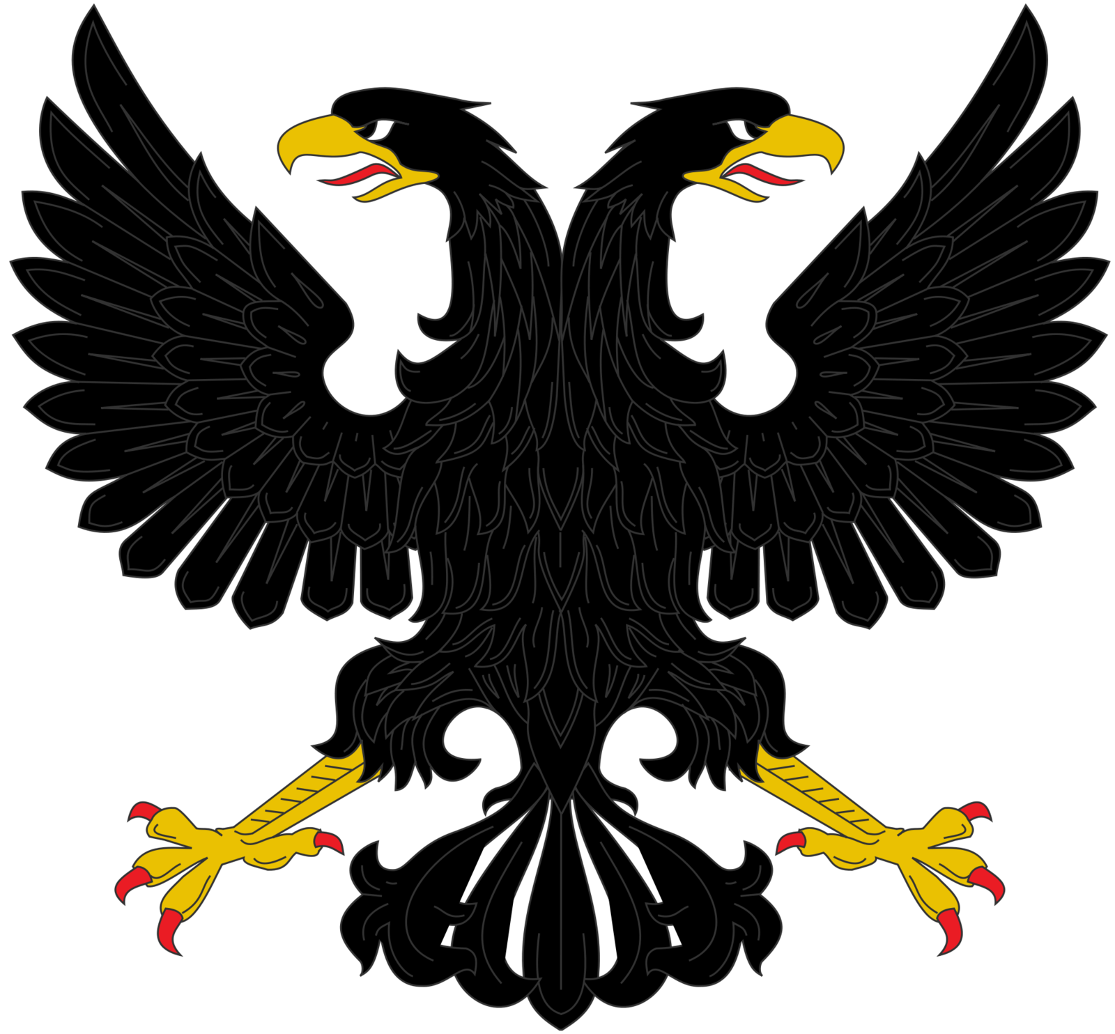 Russian styled double headed. Eagles clipart dead eagle
