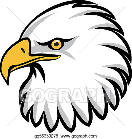 Vector art drawing gg. Eagles clipart eagle head