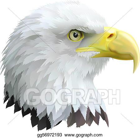 Vector illustration gg gograph. Eagles clipart eagle profile