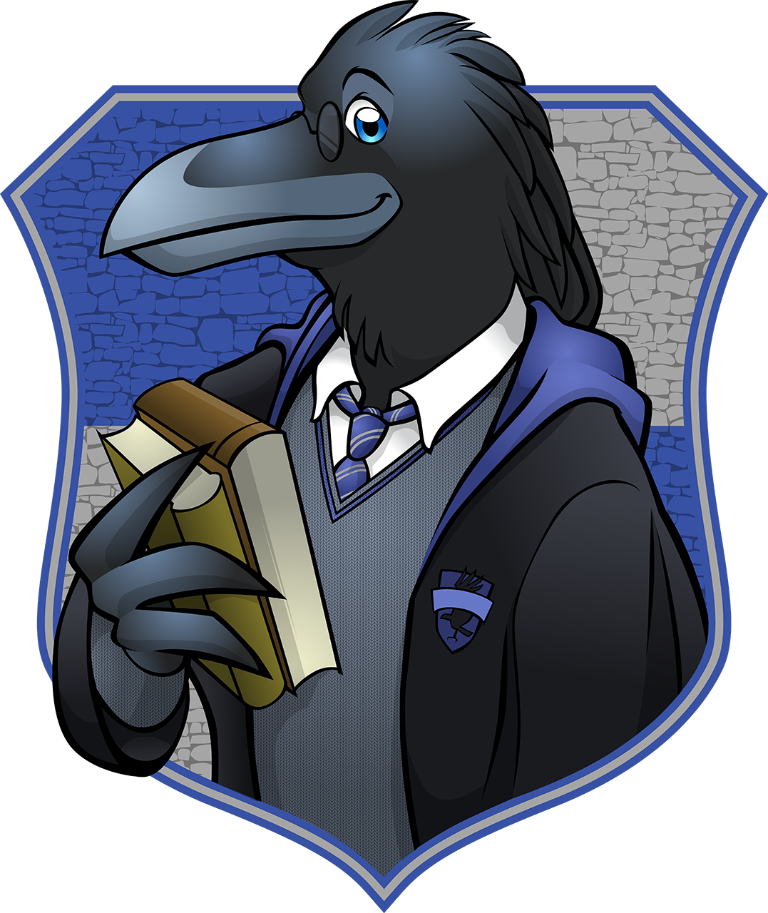 Hogwarts housefurs movie version. Eagles clipart ravenclaw