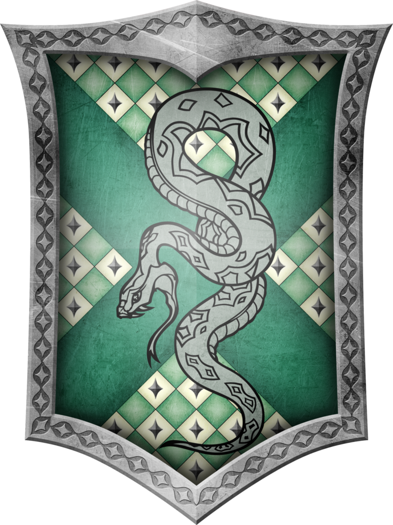 Eagles clipart ravenclaw. Slytherin crest by geijvontaen