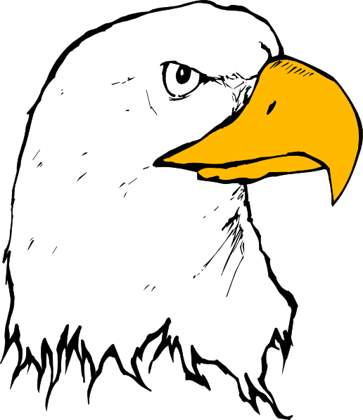 Feather clipart easy. Eagle clip art at