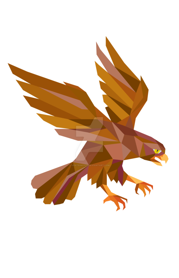 Wildcat clipart falcon. Peregrine swooping low polygon