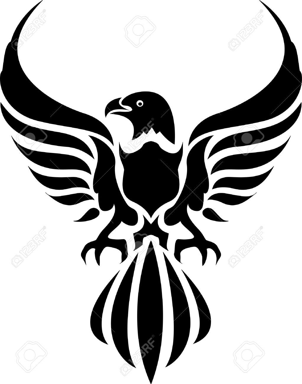 Stock vector tattoos tribal. Hawk clipart strong eagle