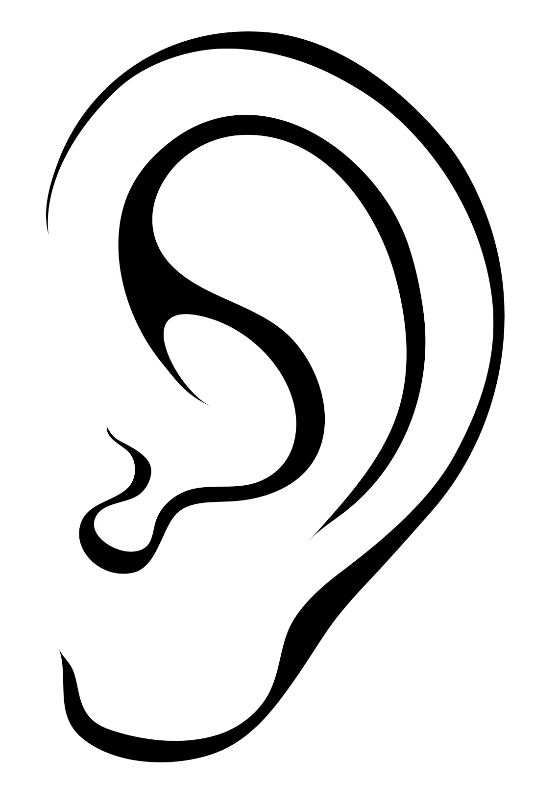Awesome ears design digital. Ear clipart
