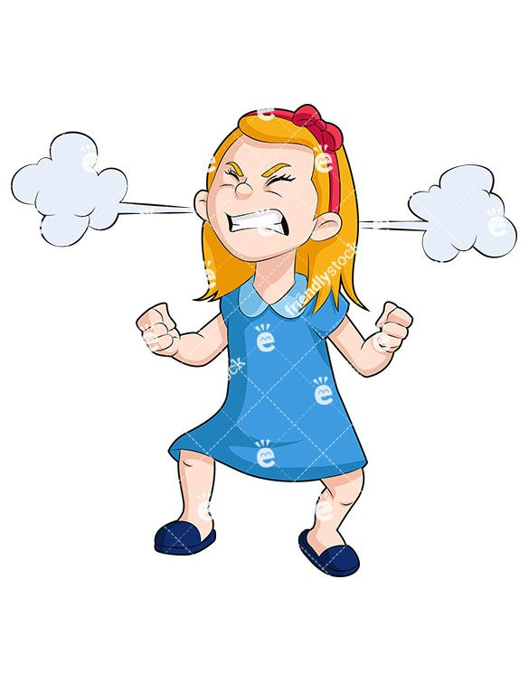 Ear clipart animated. A little girl with