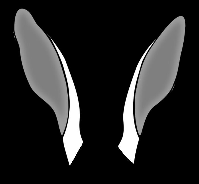 Horse clipart ear. Bunny ears clipartblack com