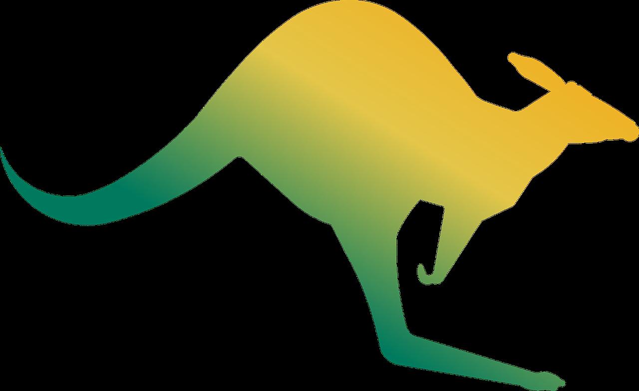 Australia jump symbol gold. Kangaroo clipart animal australian
